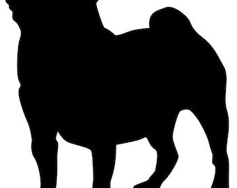 dog silhouette vinyl decal