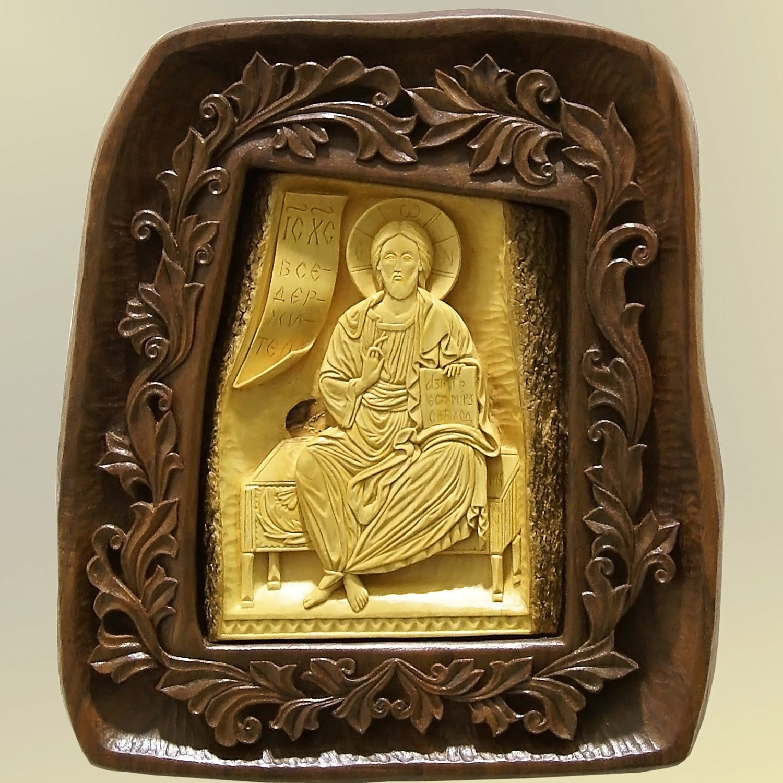 Art Wood Carving Jesus Christ Orthodox Christian Religious