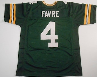 Green Bay Packers Brett Favre UNSIGNED CUSTOM Made Green Jersey