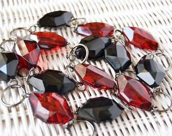 necklace red and black vintage