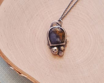 Amethyst Sage Agate Necklace
