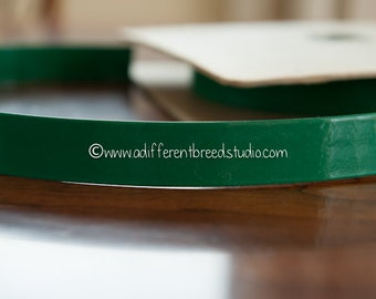 3 yards Green Patent Leather Belting- Vintage Trim 70s 80s New Old Stock Fun Belt
