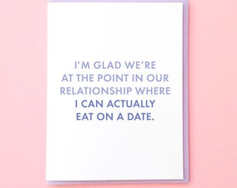 Funny Valentine. Valentine Card. Funny Anniversary Card. Card for Husband. Card for Boyfriend. Funny Dating Card. Snarky Card. True Love Car