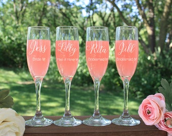 Personalized Champagne Flutes, Champagne Glasses, Toasting Flutes, Toasting Glasses, Wedding Champagne Flutes, Wedding Champagne Glasses