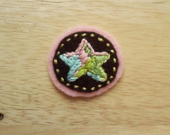 Pastel Puke Star (Patch, Pin, Brooch, or Magnet)