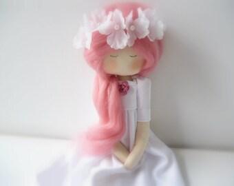 decoration room Rag Doll Girl gift birth birthday little Princess flower Crown with Suzanne