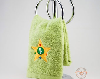 Sailor Moon Hand Towel - Sailor Jupiter - Embroidered Anime Bathroom Towel or Kitchen Decor