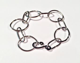 Handmade Steel Chain Bracelet - Free Shipping Domestic