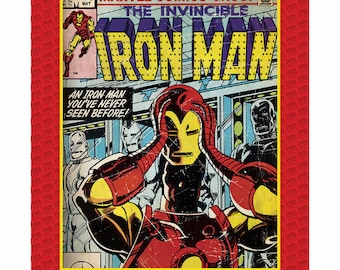 Marvel Fabric- Iron Man Fabric Panel-Marvel Comics Fabric From Camelot