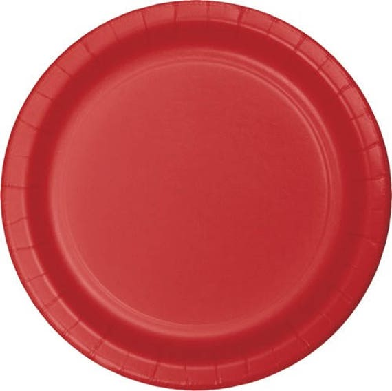 10 Ct Strong 9 Inch disposable Classic Red Large Paper Plates - Dinner - Luncheon Size Plates - Birthday - Shower - Party - All Occasion  sc 1 st  Etsy Studio & 10 Ct Strong 9 Inch disposable Classic Red Large Paper Plates ...