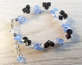 Gorgeous Bracelet | Blue, black Swarovski crystals