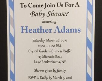 Custom, Mustache, Mustache Shower, Invitation, Baby Boy, Baby Shower, Sprinkle, Little Man
