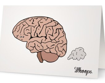 Brain Fart Belated Birthday Card