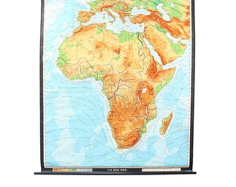 Vintage Giant Wall Map of Africa