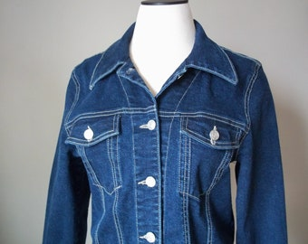 Vintage Denim Jacket- Paris Blues Original Women's Denim Jacket- Women's Size 8-10- Vintage Denim, Ladies Blue Jean Jacket, 90's Clothing