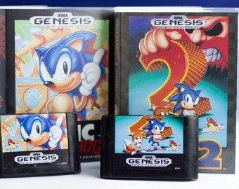 Sonic the Hedgehog Soap Set of Cartridges and Cases, Officially Licensed by Sega,Sonic, Sonic the Hedgehog, Genesis, 16 bit, SNES