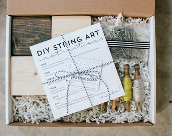 DIY String Art Party Pack, Girls Night In, Craft Kit, do-it-yourself project