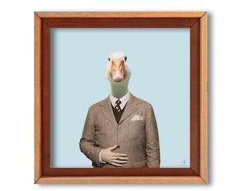 """Art print """"Monsieur Gustave"""" cardboard art print-Eco friendly"""