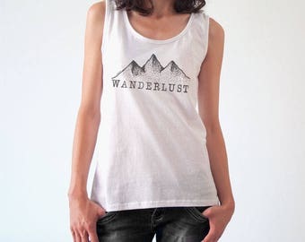 Wanderlust T-shirt-women t-shirt-women tank top-men t-shirts-motivational tee-cool tees-graphic tees-funny shirt-NATURA PICTA NPTS134