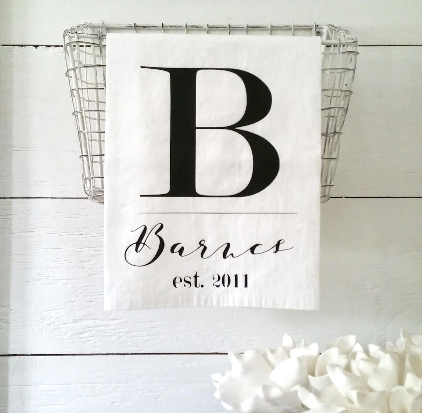 Farmhouse Kitchen Linens: Farmhouse Kitchen Decor Personalized Linens Country Home