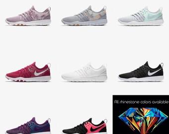 Womens Nike Free TR7 Crystal Nike Free TR7 Sneakers Bling Nike Sneakers