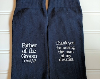 Father of the bride socks, father of the groom gift , wedding party gifts, groomsmen gift, bridesmaid gift, wedding socks.