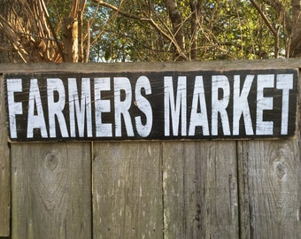 Farmers Market sign,Fixer Upper Inspired Signs,30x7.25 Rustic Wood Signs, Farmhouse Signs, Wall Décor