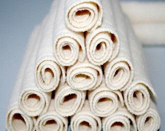 "18 hemp fleece washcloths - Baby Cloth Diaper Wipes - organic cotton cloths 7 "" square."