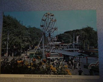 midway at crystal beach  postcard