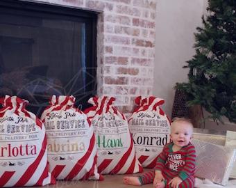 Santa Sack, Santa Bag, Christmas Sack, Christmas Morning, Personalized, Red Santa Sack, Personalized Santa Sack, Reusable Christmas
