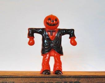 Vintage Halloween Jack-o-Lantern Scarecrow Candy Holder