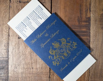 Passport And Boarding Pass Wedding Program, Destination Wedding Program, Travel Wedding Program, Passport Wedding Program, Boarding Pass