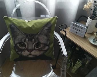 Design Cat style Face pillow cushion retro Indoor
