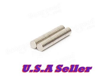 50pcs 6mm x 1.5mm Strong Small Round Disc Rare Earth Neodymium Magnets N35 craft magnets project magnets U.S Shipped