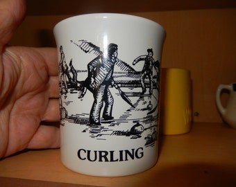 White Curling Mug - 10 oz