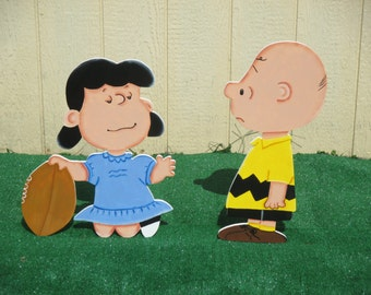 Peanuts Fall Charlie and Lucy Yard Sign