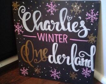 Winter ONEderland Sign