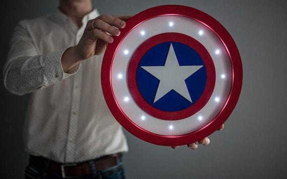 Bukvamd   Captain America Shield Light Captain America Lamp Captain America  Shield Night Light Captain America Decor Wall Art