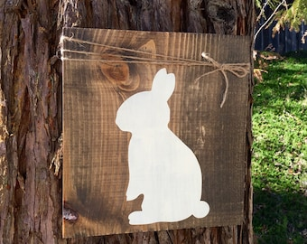 Rustic Easter Decor,Rustic Easter Sign,Easter Home Decor,Bunny Decor,Easter Wood Sign,Bunny Sign,Rustic Bunny Decor,Ructic Easter Home Decor