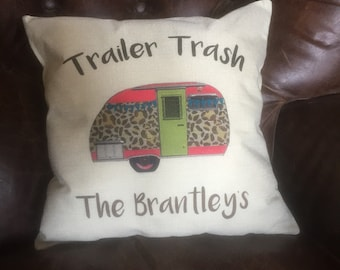 Trailer Trash Pillow cover