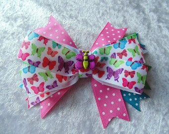 Butterfly Girls Bow... Girls Bows Baby Bows..Twin Bows... Sisters Bows...