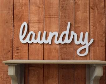Large Laundry Sign, Laundry Room Decor