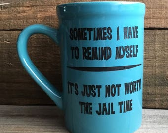 16 oz. Ceramic Jail Time Mug