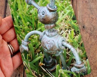 Robot in the Grass Pantia Garden Art Print Postcard Unisex Child's Room Decor PERFECT FOR FRAMING