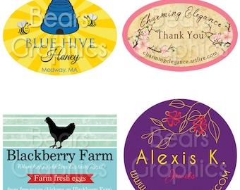 Custom Product Label Design, Sew-On Label Design, Tag Design, Candle Label Design, Bath and Body Label, Digital Design - You Print