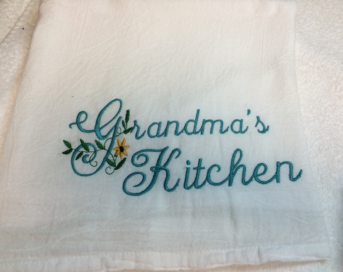 Flour Sack Kitchen Towel, Farmhouse  Kitchen decor, large flour sack towel, Holiday towel, winter, Valentines, Spring, Easter, Fall