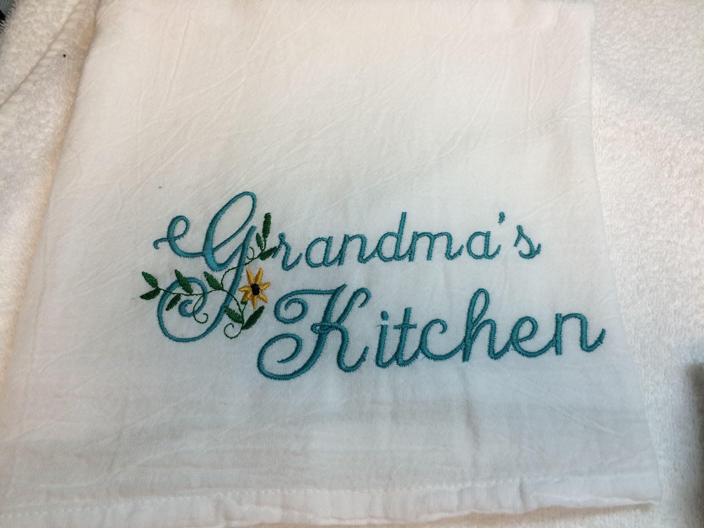 Flour Sack Kitchen Towel, Farmhouse Kitchen decor, large flour sack ...