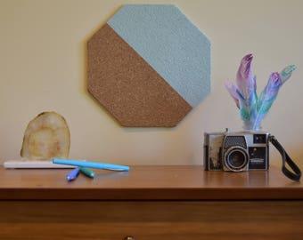 Aqua Corkboard Wall Tile: Half & Half