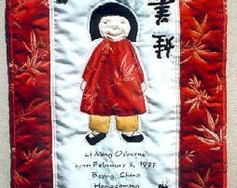 International Adoption Quilt Patterns - Chinese Girl