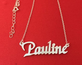 Personalized name necklace,Custom name Jewelry, 925 sterling silver name necklace, Handmade Jewelry, Customized name